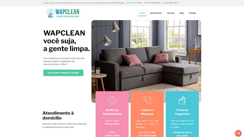Wapclean – Limpeza de Estofados, Carpetes e Tapetes